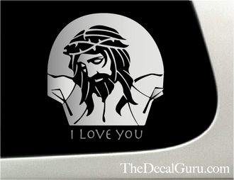 Jesus Christ Car Decal