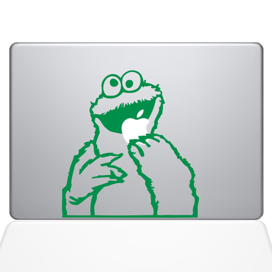 Cookie monster macbook decal sticker