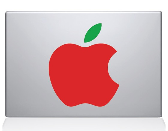 Big Apple Macbook Decal Sticker Silver