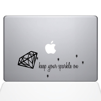 Keep Your Sparkle On Macbook Decal Sticker Black