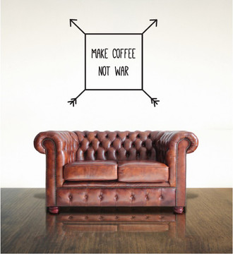 Make Coffee Not War Wall Decal