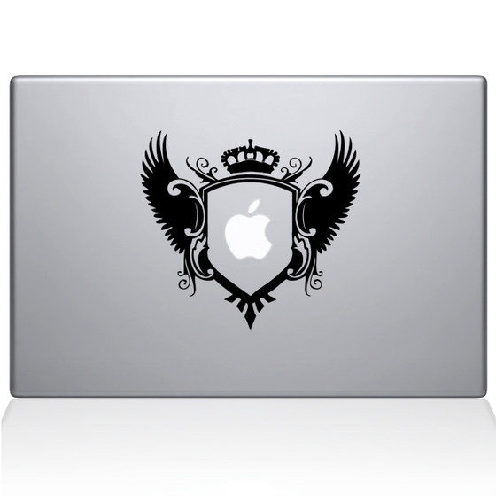Royal Crest Macbook Decal Sticker Black