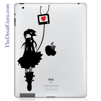 TV Love iPad Decal