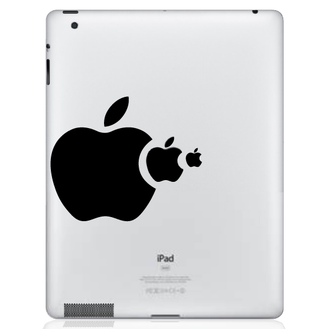 Apple Eat Apple iPad Decal