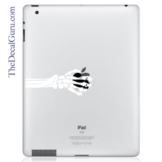 skeleton hand ipad decal