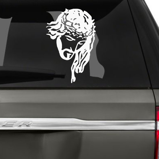 Jesus With Crown Of Thorns Car Decals The Decal Guru