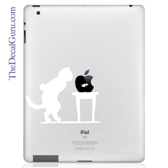 Cat and Fish Bowl iPad Decal
