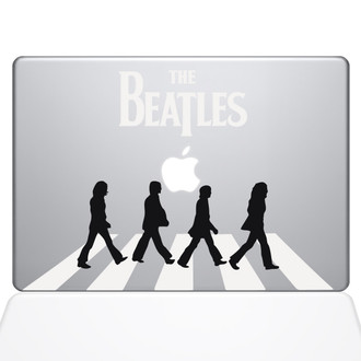 Beatles Abbey Road Macbook Decal Sticker Silver
