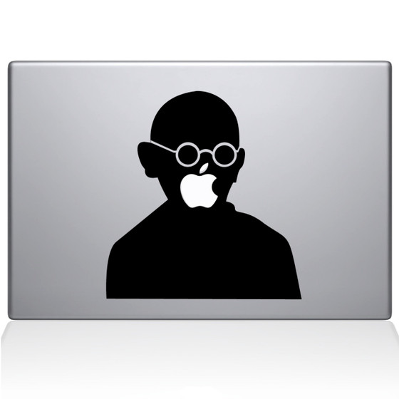 Gandhi Macbook Decal Sticker Black