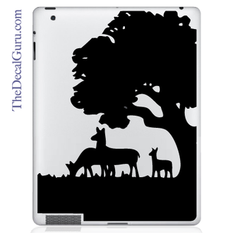 Deer Tree Meadow iPad Decal