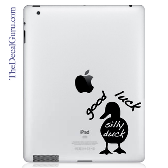 Good Luck Silly Duck iPad Decal