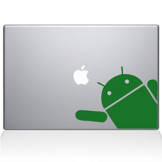 Android Wave Macbook Decal Sticker Green