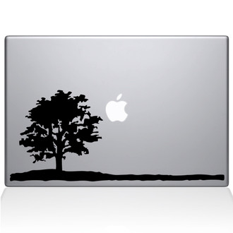 Lone Tree Macbook Decal Sticker Black