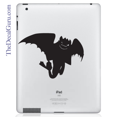 How to Train Your Dragon Night Fury iPad Decal