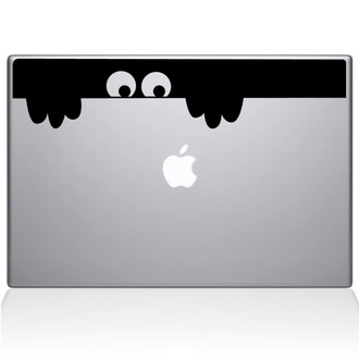 Peek-a-Boo Monster Macbook Decal Sticker Black