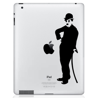 Retro Charlie Chaplin iPad Decal