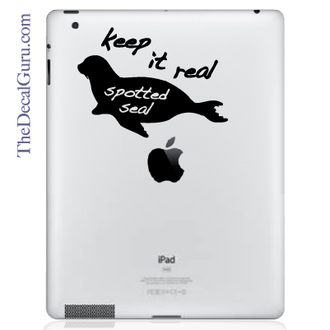 Keep it Real Spotted Seal iPad Decal
