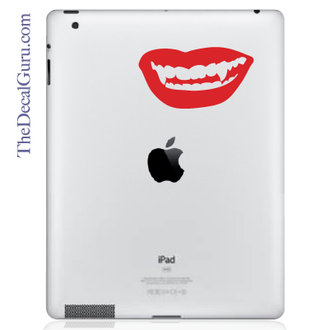 Vampire Lips iPad Decal