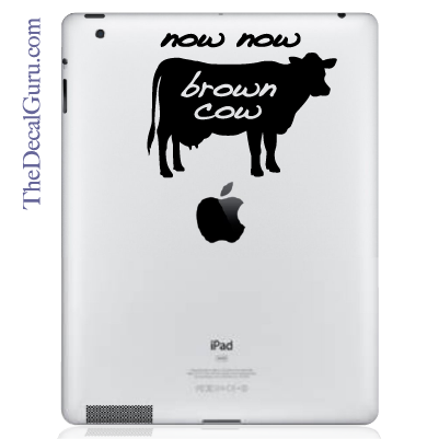 Now Now Brown Cow iPad Decal
