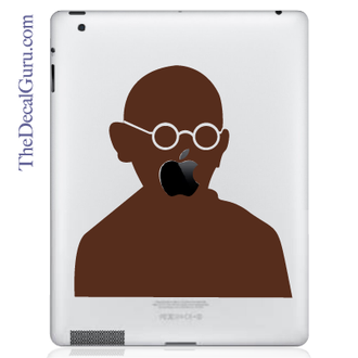 Gandhi iPad Decal