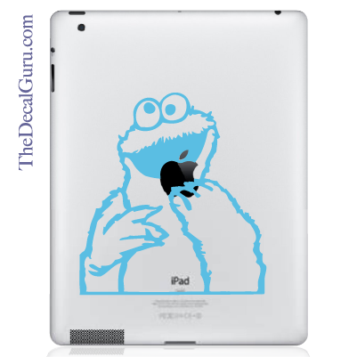 Cookie Monster iPad Decal
