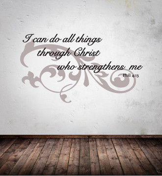 Flourish Quote Wall Decal