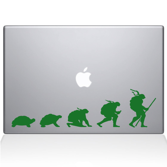 Ninja Turtle Evolution Macbook Decal Sticker Green