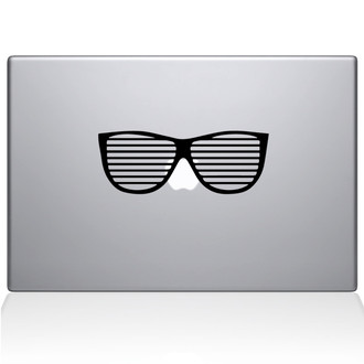 Party Glasses Macbook Decal Sticker Black