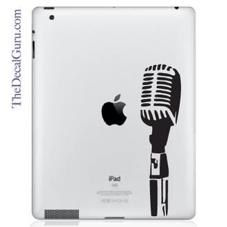 Open Mic iPad Decal