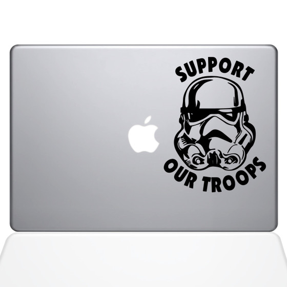 Support Our Troopers Macbook Decal Sticker Black