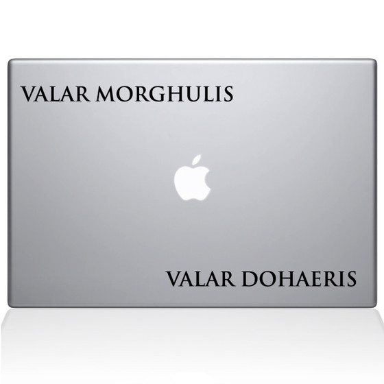 GOT Valar Morghulis Macbook Decal Sticker Black