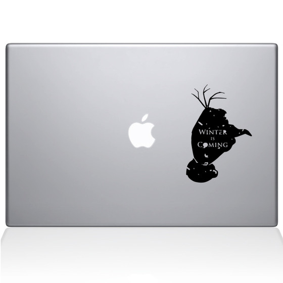 GOT Meets Olaf Macbook Decal Sticker Black