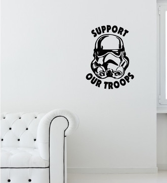 Support Our Troopers Wall Decal