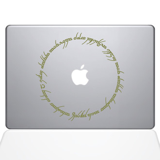 Lord of the Rings Inscription Macbook Decal Sticker Gold
