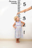 Kids growth chart wall decal