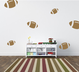 Footballs Wall Decal