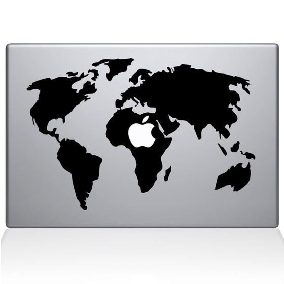 World travel flight map wall decal the decal guru world map macbook decal sticker black gumiabroncs Image collections