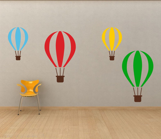 ... Hot Air Balloons Wall Decal. Image 1