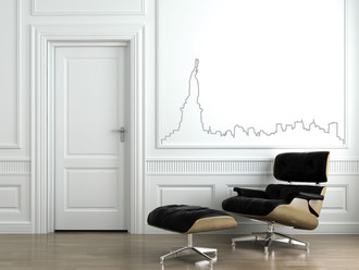New York Skyline Outline Wall Decal