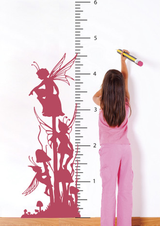 Fairy Growth Chart Wall Decal