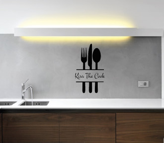 Kiss The Cook Kitchen Wall Decal