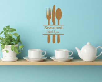 Seasoned With Love Kitchen Wall Decal