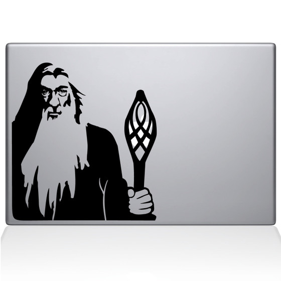 Gandalf the White Macbook Decal Sticker Black