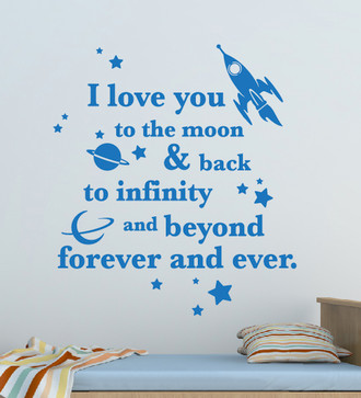 I Love You To The Moon Quote Wall Decal