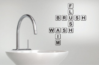 Scrabble Bathroom Wall Decal