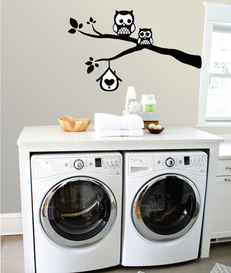 Owls On A Branch Wall Decal