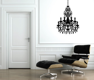 Ornate Chandelier Wall Decal