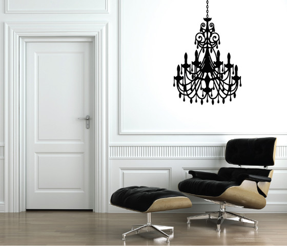 Chandelier Wall Sticker Decal. Chandelier DYI Decal Sticker. See 9 More  Pictures