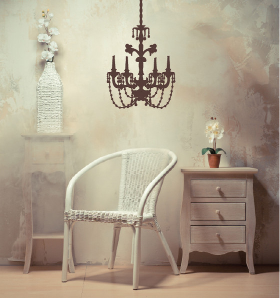 Chandelier Wall Sticker Decal. Chandelier DYI Decal. Gaudi Decal Sticker.  See 9 More Pictures