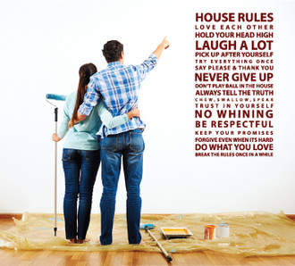 House Rules Quote Wall Decal